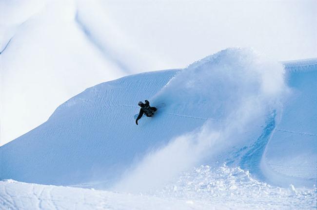 Snowkite in Fieberbrunn.